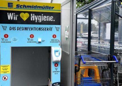 Desinfektionsgerät für Einkaufswägen bei Ihrem EDEKA Schmidmüller